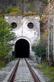 Entrance to the old railway tunnel Royalty Free Stock Images