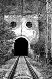 Entrance to the old railway tunnel Stock Image