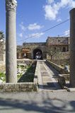 Entrance to the old Souk at Byblos, Lebanon Royalty Free Stock Images