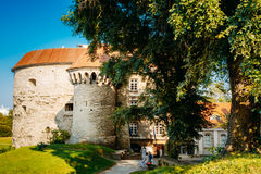 Entrance To Old Town And Fat Margaret (Paks Margereeta) Tower In Royalty Free Stock Photography