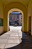 Entrance to Old Town Hall Patio in Brno. Royalty Free Stock Photography
