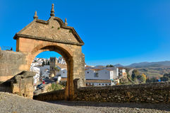 Entrance to the Old Town of Ronda Stock Photos
