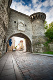 Entrance To Old Town in Tallinn Stock Image