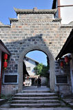 Entrance to The Old Town of Zhouzi Stock Photo