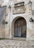 Entrance to the Olesko Castle Stock Photography