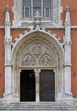 Entrance to one of catholic churches in Vienna Stock Photography