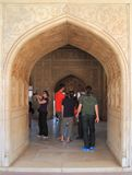 Entrance to one of palaces, Agra fort Royalty Free Stock Photography