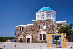 Entrance to the Orthodox chapel on the island of Kos stock image