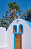Entrance to the Orthodox chapel on the island of Kos Stock Photography