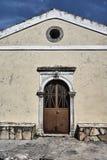 Entrance to the Orthodox church stock photos