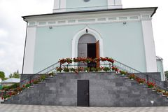 Entrance to the Orthodox Church. Entrance to the Orthodox Church in Zhitomir Royalty Free Stock Images