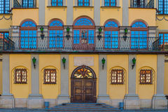 Entrance to the palace in Nesvizh, Belarus Royalty Free Stock Photos