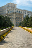 Entrance to the Palace of Parliament in Bucharest Royalty Free Stock Images