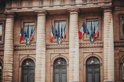 Entrance to the palais de justice in Paris France Stock Photo