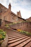 Entrance to Palais de la Berbie Gardens at Albi, Tarn, France. Vertical shot Royalty Free Stock Photo