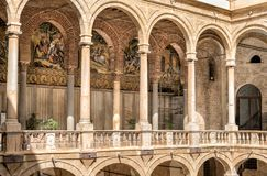 Entrance to Palatine Chapel of the Royal Palace in Palermo Royalty Free Stock Image
