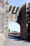 Entrance to the Parador de Bayona in Spain Stock Photos