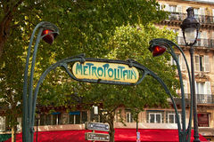 Entrance to Paris Metro Stock Image
