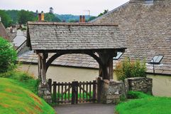 Entrance to Parish church in the Lake District. Stock Photo
