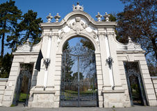 Entrance to the park. Of castle Festetics royalty free stock photos