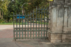 The entrance to the park Stock Photography
