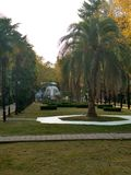 Park Riviera. The entrance to the Park & x22;Riviera& x22; in Sochi & x28;Russia& x29 Royalty Free Stock Photos