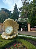 Park Riviera. The entrance to the Park & x22;Riviera& x22; in Sochi & x28;Russia& x29 Stock Images