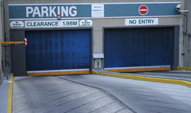 Entrance to parking garage Royalty Free Stock Images