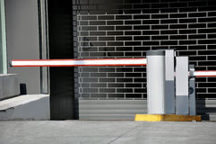 Entrance to parking garage Stock Photos