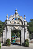 Entrance to the Parque del Buen Retiro in Madrid, Spain Royalty Free Stock Images
