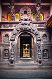 Entrance to the Patan's Golden Temple. Royalty Free Stock Image