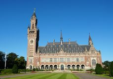Entrance to the peace Palace building