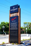 Entrance to Penfolds Wines, South Australia premium wine produce Royalty Free Stock Images
