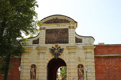Entrance to the Peter and Paul fortress Royalty Free Stock Photos
