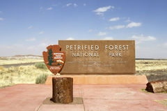 Entrance to Petrified Forest National Park Royalty Free Stock Photo
