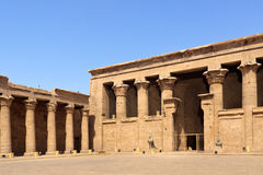 Entrance to Philae Temple Royalty Free Stock Image