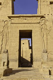 Entrance to philae temple Royalty Free Stock Photos