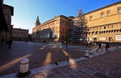 Entrance to Piazza Maggiore Bologna, Italy Stock Photo