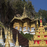 Temples at Pindaya Cave - Myanmar (Burma) Royalty Free Stock Photo