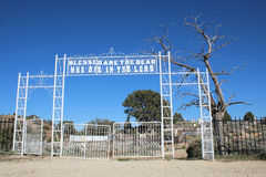 Entrance to a Pioneer Cemetery Stock Image