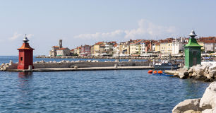 Entrance to the Piran harbour Royalty Free Stock Photo