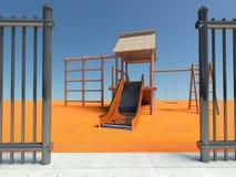 Entrance to the playground Stock Photos