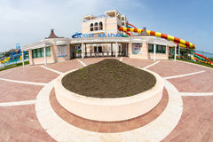 Entrance to the Pomorie Aquapark in Bulgaria Royalty Free Stock Image