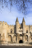 The entrance to The Popes' Palace in Avignon, France Stock Image