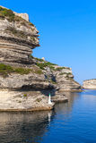 Entrance to the port of Bonifacio, Corsica Royalty Free Stock Images