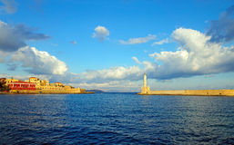 Entrance to the port of Chania Royalty Free Stock Photo