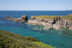 Entrance to Port Gaverne beach near Port Isaac Cornwall Royalty Free Stock Photography
