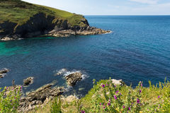 Entrance to Port Isaac harbour North Cornwall Royalty Free Stock Image