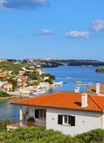 Entrance to the port in Mahon on Minorca Royalty Free Stock Photo