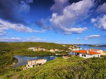 Entrance to the port in Mahon on Minorca Royalty Free Stock Photography